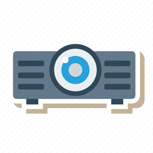 broadcast, device, devices, movie, projector, technology, video icon