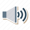 advertising, audio, loudspeaker, media, sound, speaker, volume icon