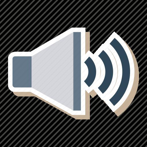 advertising, audio, loudspeaker, media, sound, speaker, volume icon