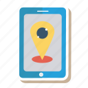 globe, gps, locate, mobile, phone, pin, telephone icon
