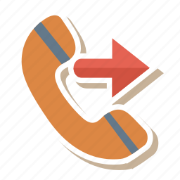 call, dialed, outgoing, phone, phonecall, receiver, talk icon