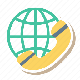 business, call, global, international, phone, technology, telephone icon