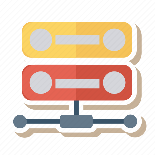 connections, network, setting, sever, sharing, social, storage icon