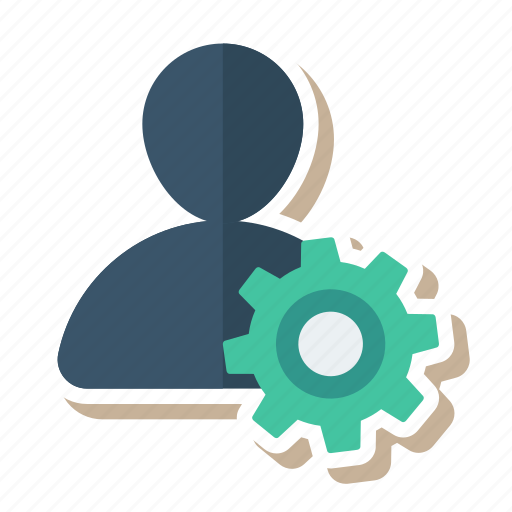 configuration, gear, people, person, setup, tool, user icon