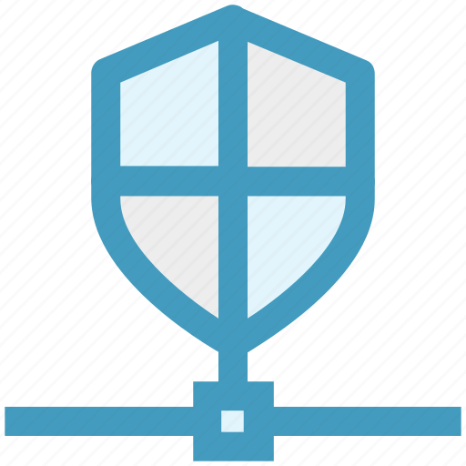 connection, data, network, secure, security, shield icon