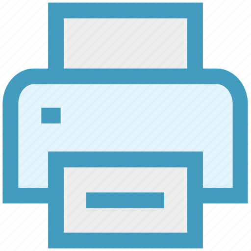 computer, connection, device, fax, network, print, printer icon