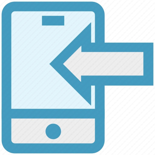 arrow, connection, mobile, network, phone, smartphone, transfer icon