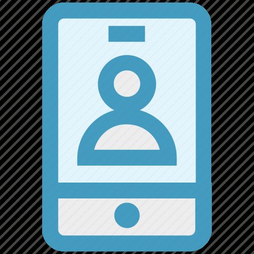account, app, cell, login, mobile, profile, user icon