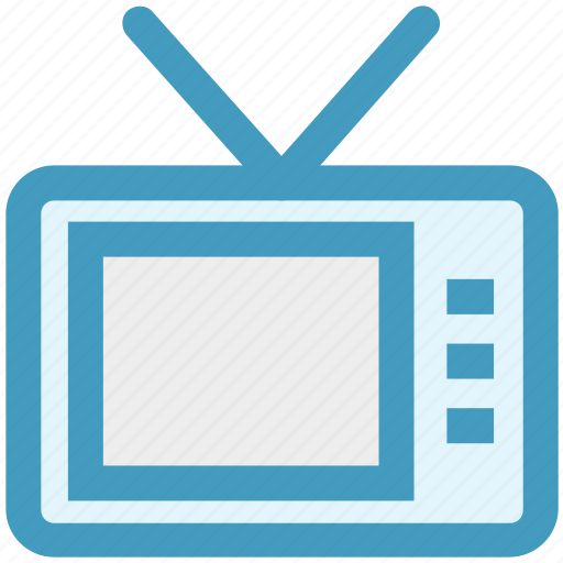 communication, display, retro, screen, television, tv, watch icon