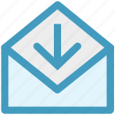 arrow, e-mail, envelope, letter, mail, message, receive icon