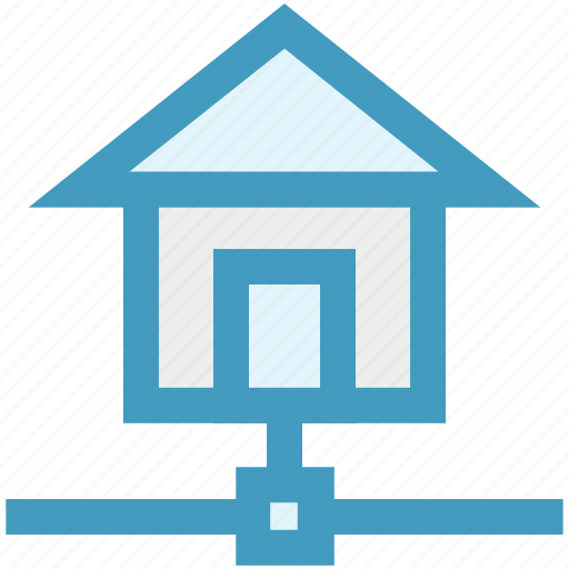 connection, home, hosting, house, internet, network, web icon
