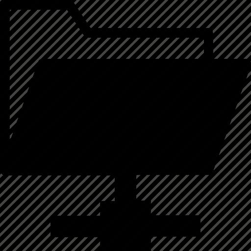 connected folder, data, folder share, network, storage icon