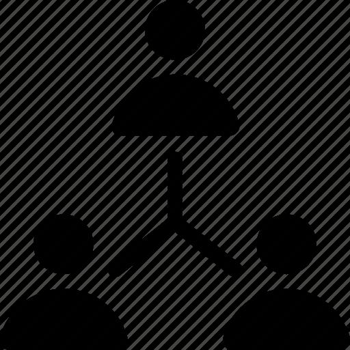 group, network, organization, team, team hierarchy icon