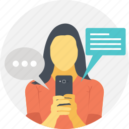 message, mobile communication, mobile sms, smartphone chat, text messaging icon