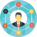 business connections, business group concept, business links, business network, professional network icon