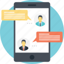 chat, live chat, mobile communication, online chat, online communication icon