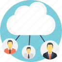 cloud computing concept, cloud connections, cloud network, cloud technology concept, wireless connectivity icon