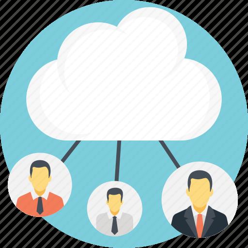cloud computing concept, cloud connections, cloud network, cloud technology concept, wireless connectivity icon