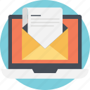 email, mailing, online correspondence, receiving mail, sending mail icon