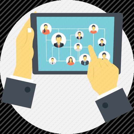 media user interface, social media network, social media network app interface, social media user app, social network application icon