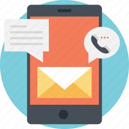 communication technology, digital communication, mobile communication, smartphone device, telecommunication icon