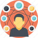 digital community, social community, social connections, social connectivity, social network icon