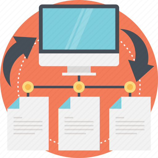 data sharing, data transfer, document sharing, file sharing, sharing information icon