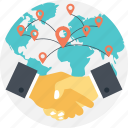 global business concept, global connections, global deals, globalization, international connections icon