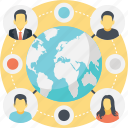 global connection, global network, globalization concept, international network, social media network icon