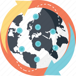 global connection, global network, globalization, international links, worldwide connections icon