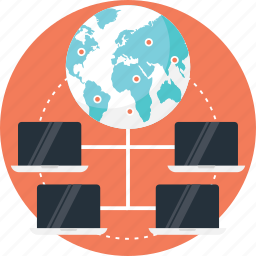 global connection, global network, internet protocol, network topology, server network icon