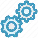 cog, cogwheel, engine, gears, network, options, settings icon