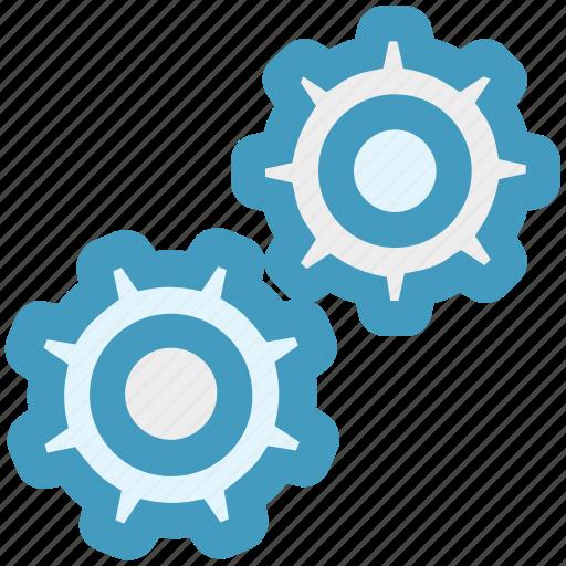 cog, cogwheel, engine, gears, network, options, settings icon