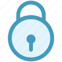 lock, locked, padlock, password, secure, security, unlock icon