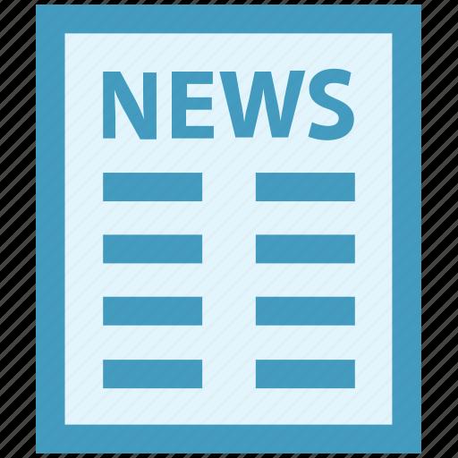 communication, media, news, news article, newsletter, newspaper, press icon