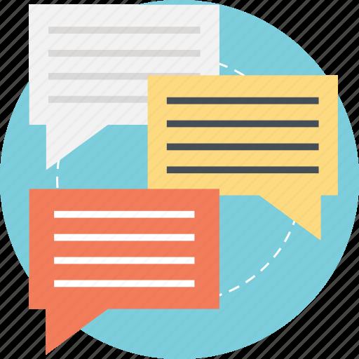 communication, conversation, dialogue, speech bubble, talk bubble icon