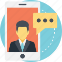 chat talk, digital communication, mobile chat, mobile conversation, text message icon