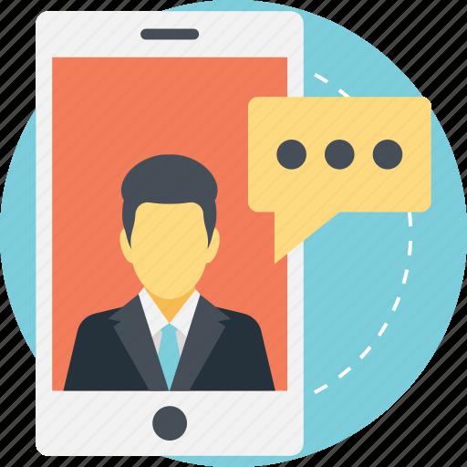 chat talk, digital communication, mobile chat, mobile conversation, text message icon