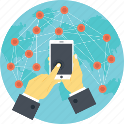 global wireless connectivity, modern communication, telecommunication, wireless communication, wireless network icon