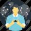 communication technology, global wireless connectivity, modern communication, wireless communication, wireless network icon