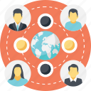 global connections, global network, social community network, global communication, social network icon