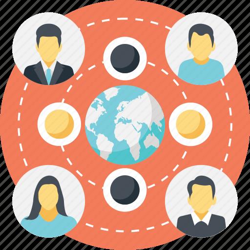global communication, global connections, global network, social community network, social network icon