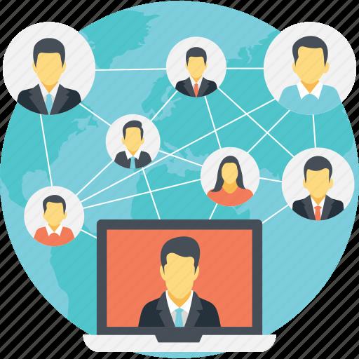 internet connections, social connections, social media, social media communication, social network icon