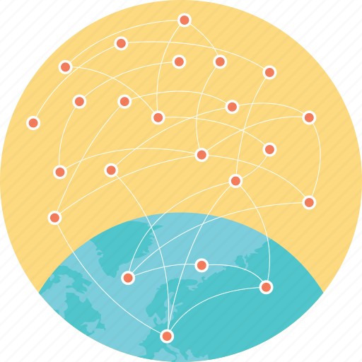 global connections, global networking, internet, internet network, social network icon