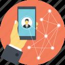 communication network, digital network, online connection, online network, social media connections