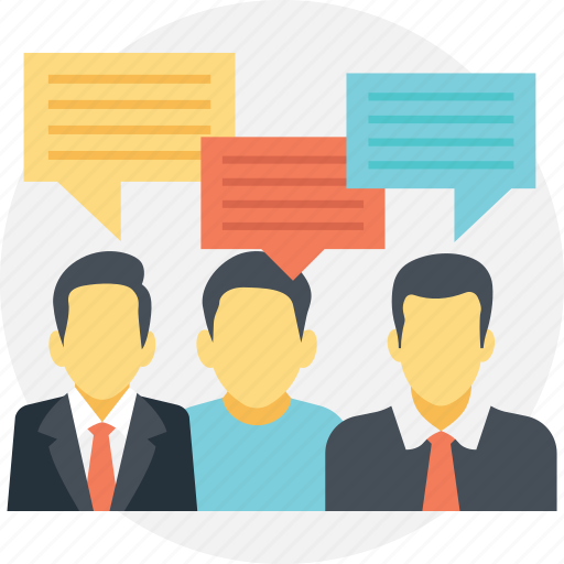 business networking, business people, discussion, group of people, people network, social network icon