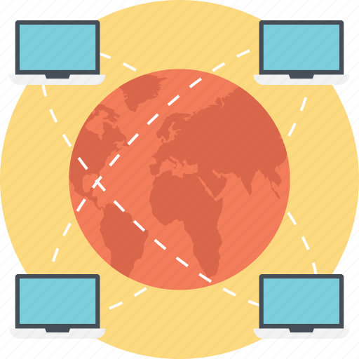 computer network, global network connection, global systems connectivity, interconnected computers network, internet connection icon