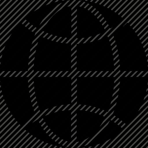 earth grid, globe, international, planet, worldwide icon