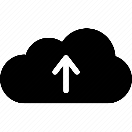 cloud, cloud upload, computing, data, up arrow icon