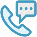 call, chat, contact, message, phone, sms, telephone icon